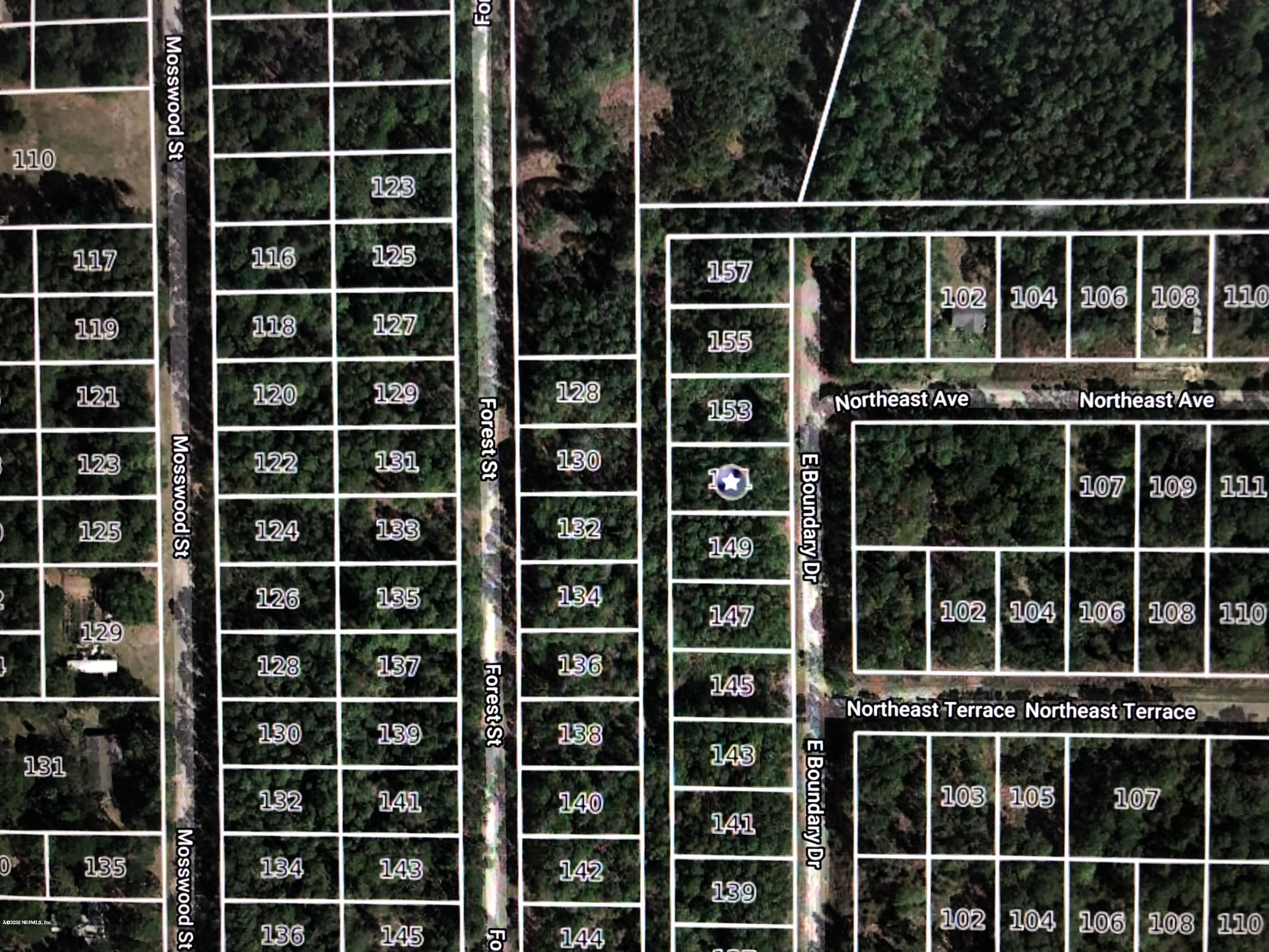 151 BOUNDARY, GEORGETOWN, FLORIDA 32139, ,Vacant land,For sale,BOUNDARY,1042161