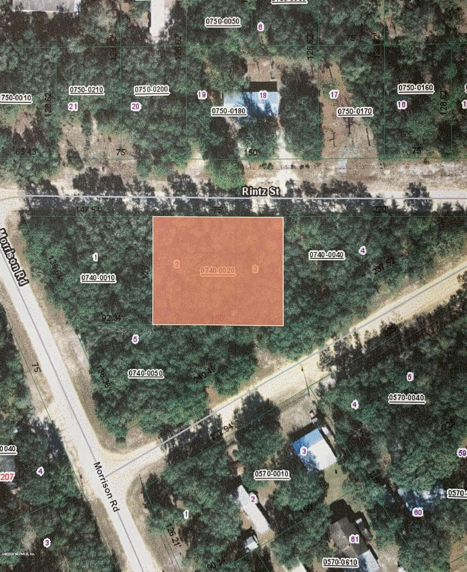 00 RINTZ, INTERLACHEN, FLORIDA 32148, ,Vacant land,For sale,RINTZ,1041981