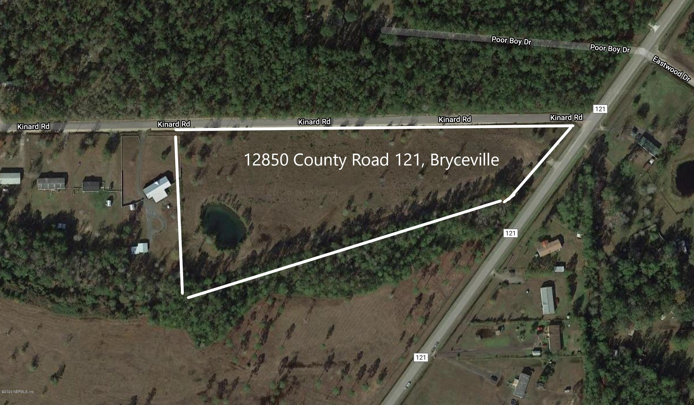 12850 COUNTY ROAD 121, BRYCEVILLE, FLORIDA 32009, ,Vacant land,For sale,COUNTY ROAD 121,1044615