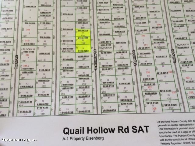 313 QUAIL HOLLOW, SATSUMA, FLORIDA 32189, ,Vacant land,For sale,QUAIL HOLLOW,1044758