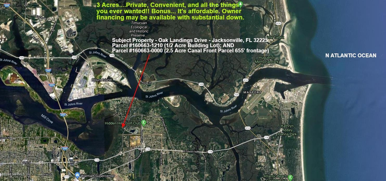 0 OAK LANDINGS, JACKSONVILLE, FLORIDA 32225, ,Vacant land,For sale,OAK LANDINGS,1048271
