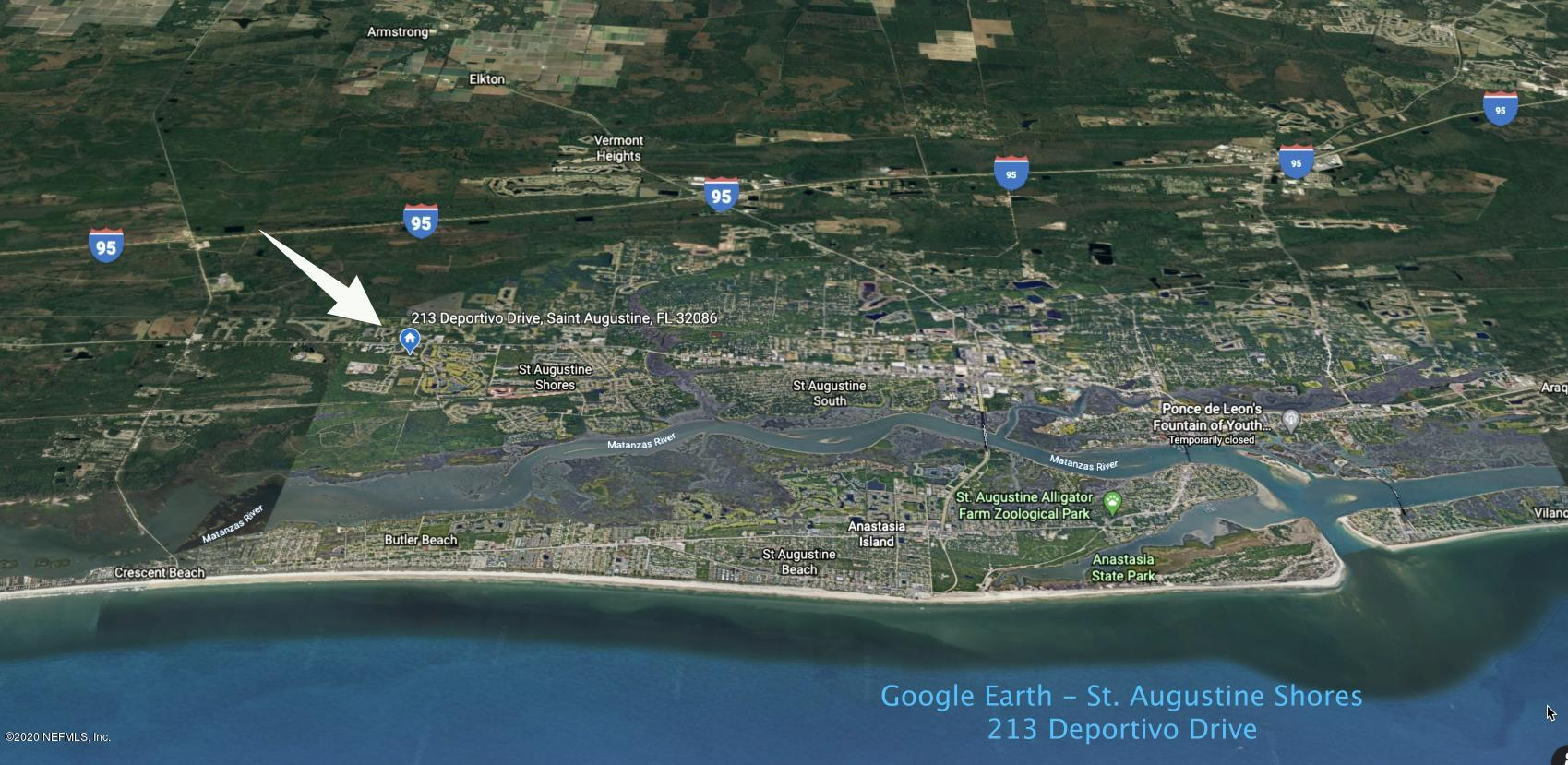 213 DEPORTIVO, ST AUGUSTINE, FLORIDA 32086, ,Vacant land,For sale,DEPORTIVO,1052461