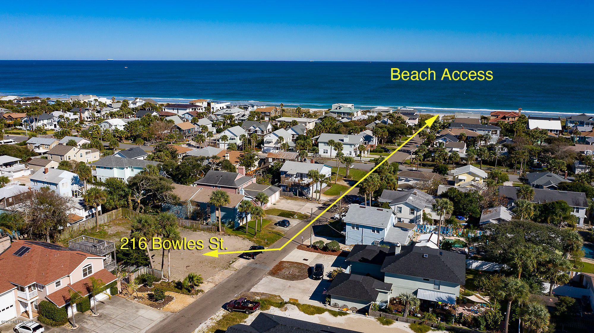 214 & 216 BOWLES, NEPTUNE BEACH, FLORIDA 32266, ,Vacant land,For sale,BOWLES,1053447