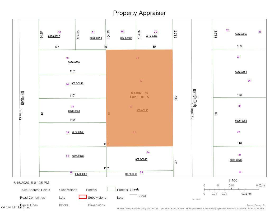 00 COLLEGE, INTERLACHEN, FLORIDA 32148, ,Vacant land,For sale,COLLEGE,1053668