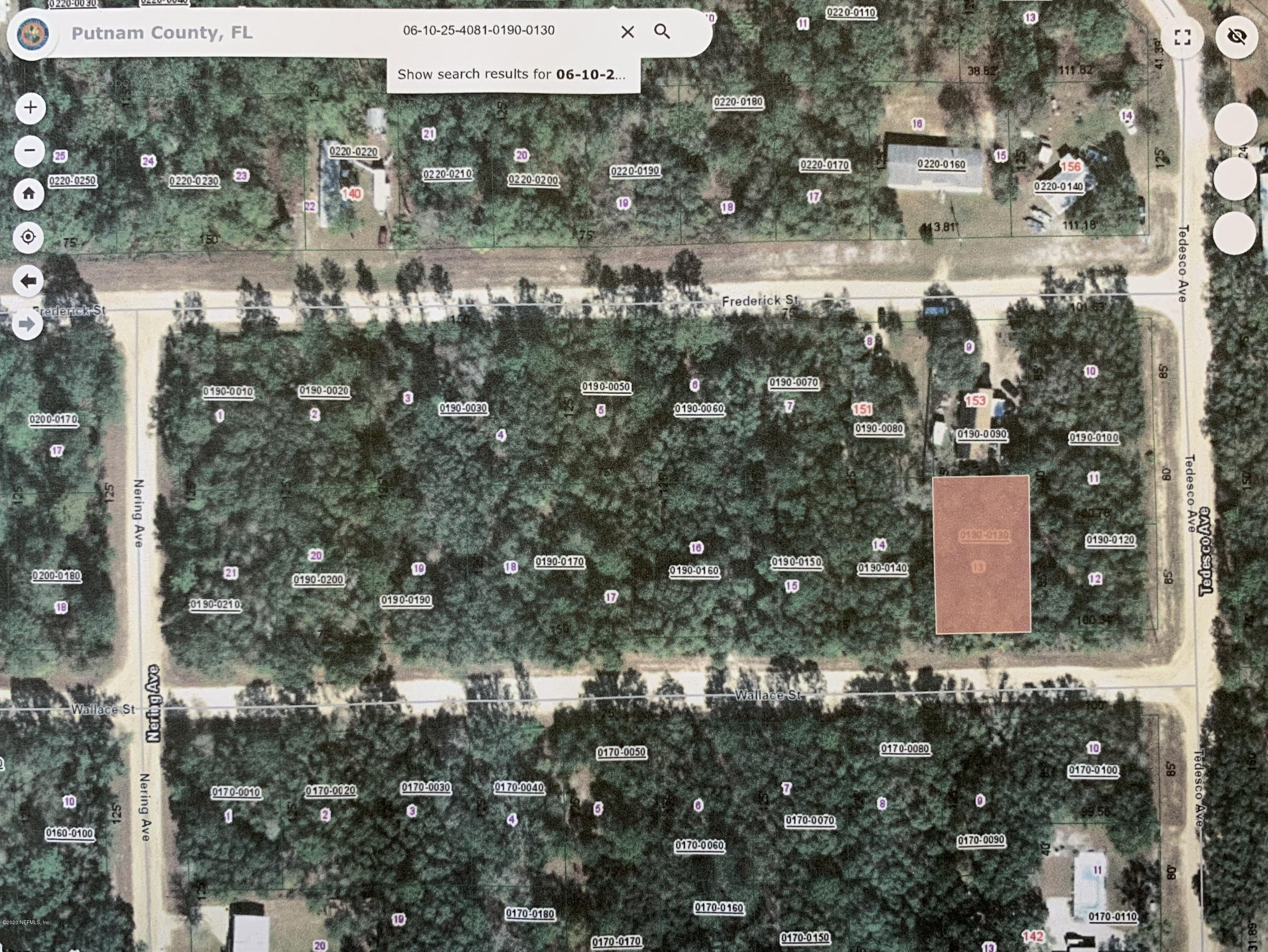 0 WALLACE, INTERLACHEN, FLORIDA 32148, ,Vacant land,For sale,WALLACE,1054187
