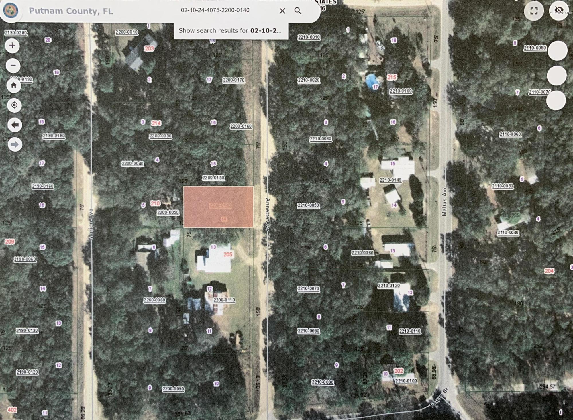 00 ANNETTE, INTERLACHEN, FLORIDA 32148, ,Vacant land,For sale,ANNETTE,1054192