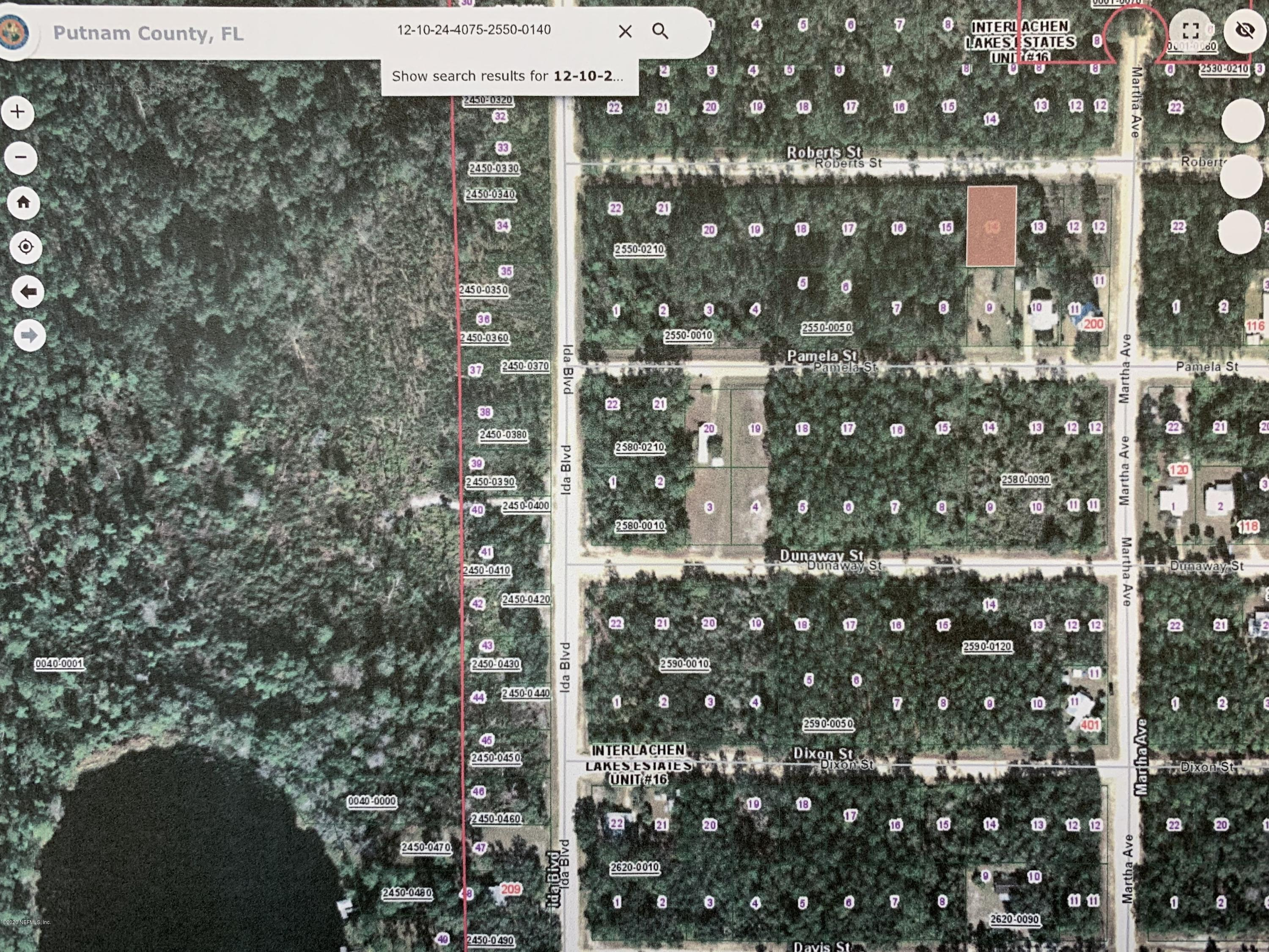 00 ROBERTS, INTERLACHEN, FLORIDA 32148, ,Vacant land,For sale,ROBERTS,1054218