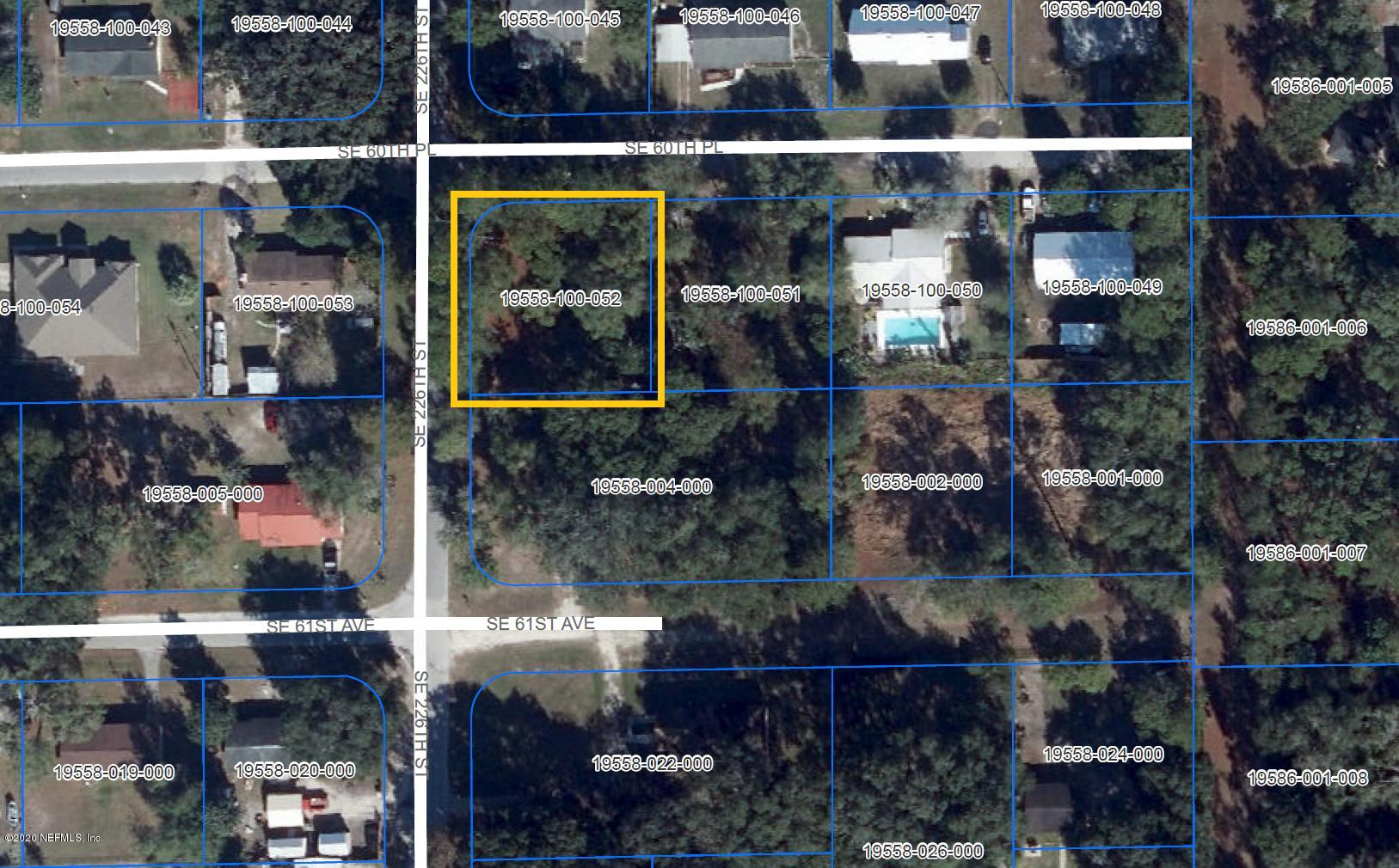 22603 60TH, HAWTHORNE, FLORIDA 32640, ,Vacant land,For sale,60TH,1055404