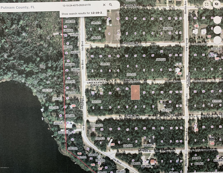 00000 DIXON, INTERLACHEN, FLORIDA 32148, ,Vacant land,For sale,DIXON,1056814