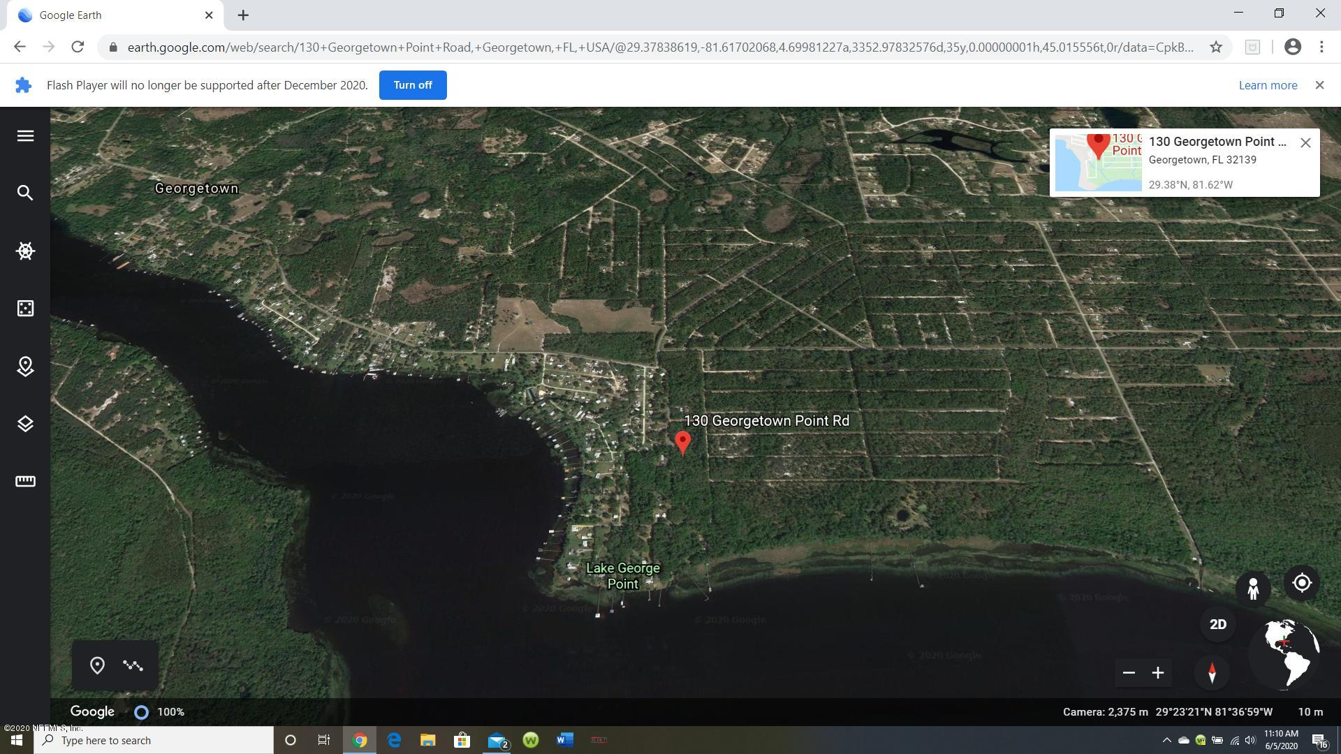130 GEORGETOWN POINT, GEORGETOWN, FLORIDA 32139, ,Vacant land,For sale,GEORGETOWN POINT,1056994