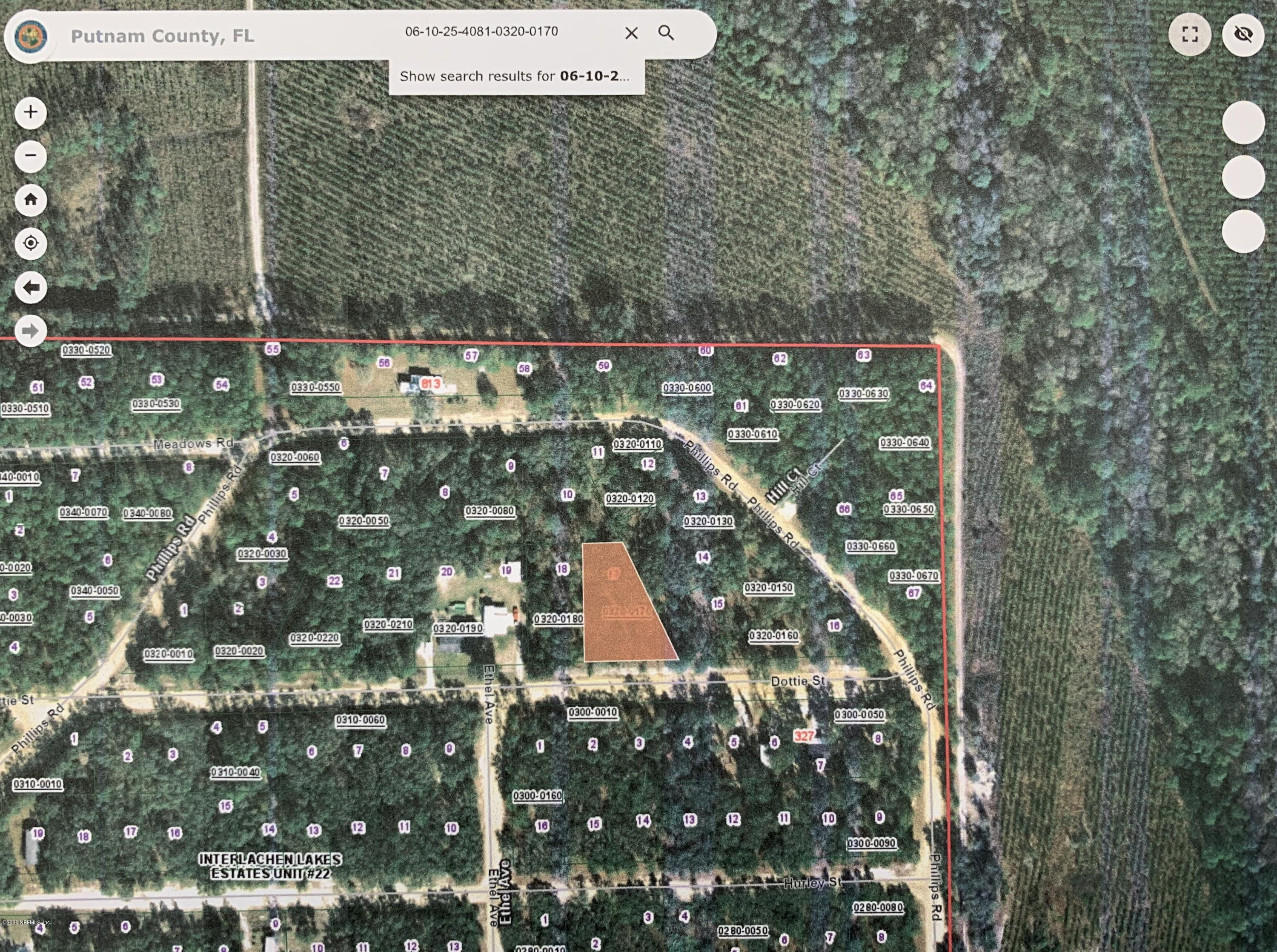 0000 DOTTIE, INTERLACHEN, FLORIDA 32148, ,Vacant land,For sale,DOTTIE,1057115
