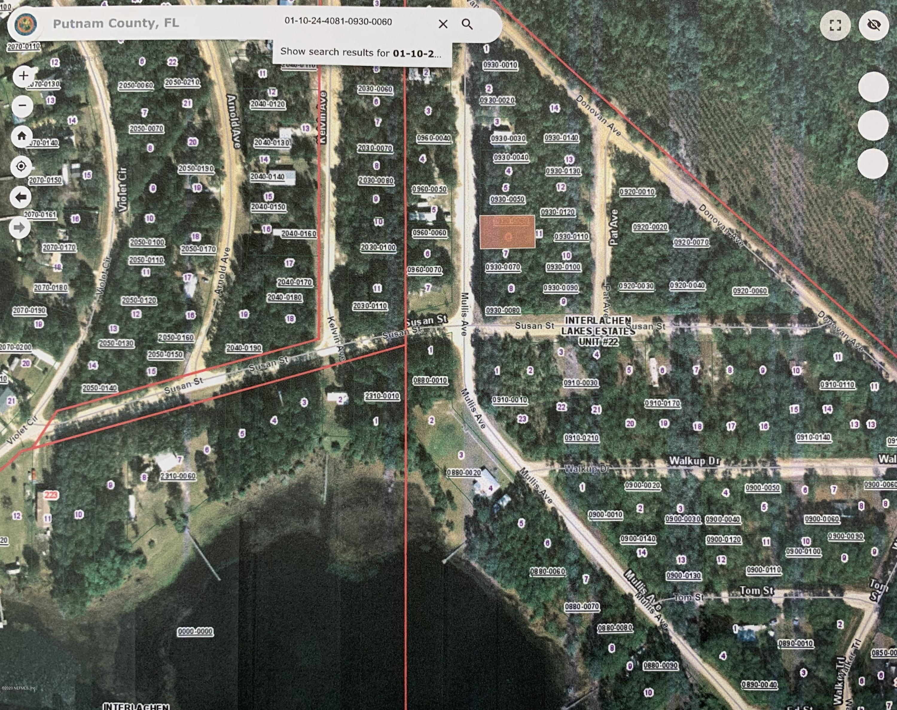 00 MULLIS, INTERLACHEN, FLORIDA 32148, ,Vacant land,For sale,MULLIS,1057122