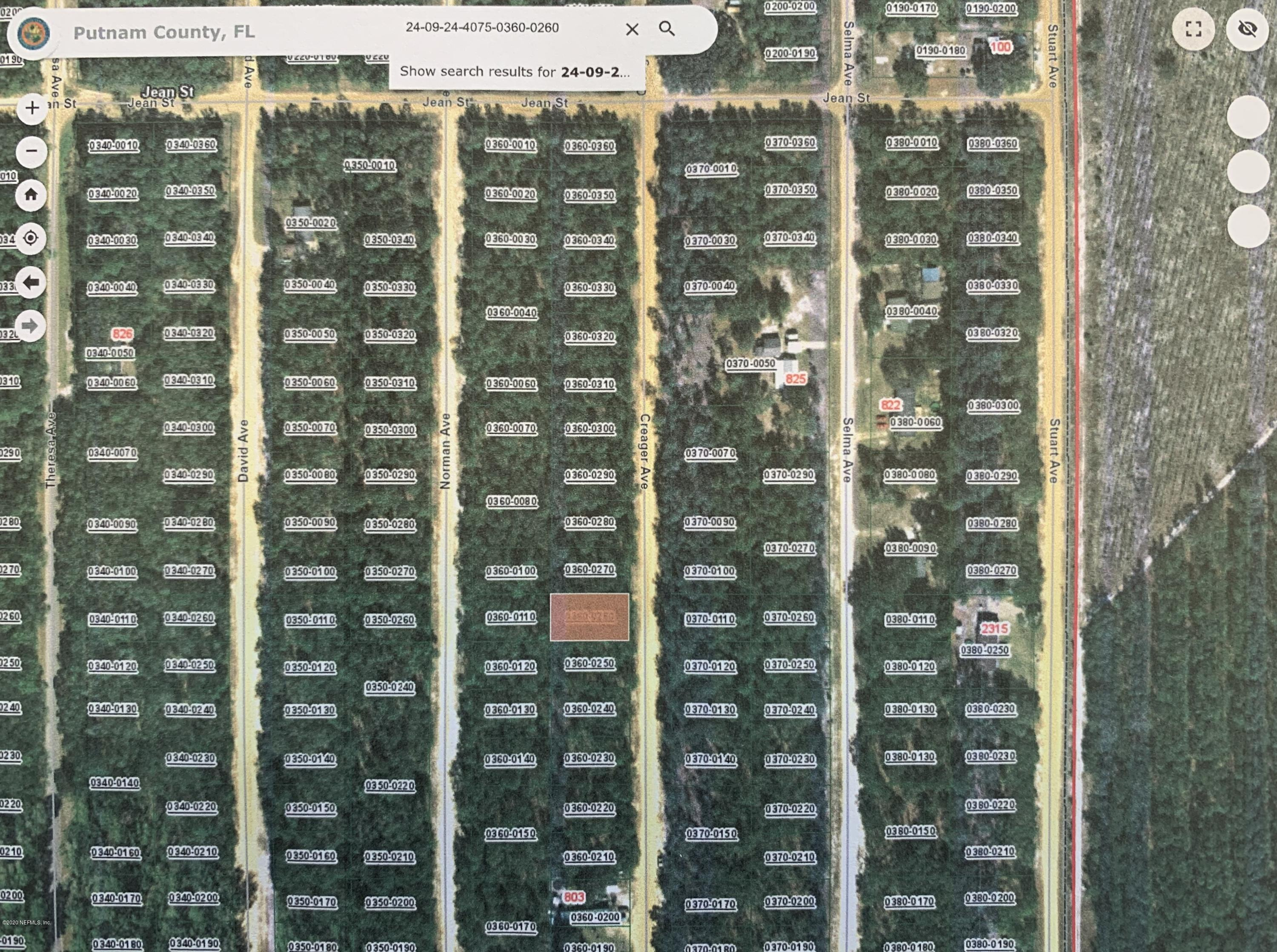 0000 CREAGER, INTERLACHEN, FLORIDA 32148, ,Vacant land,For sale,CREAGER,1058175