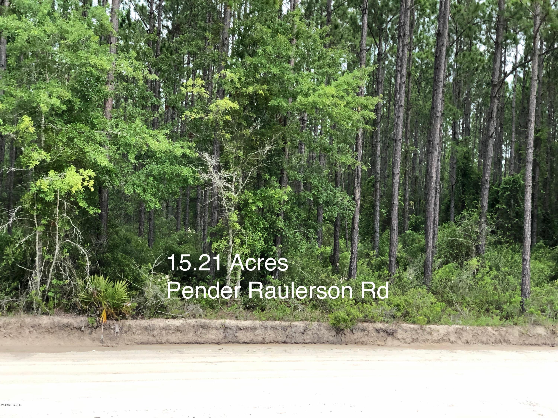 0 PENDER RAULERSON, SANDERSON, FLORIDA 32087, ,Vacant land,For sale,PENDER RAULERSON,1058274