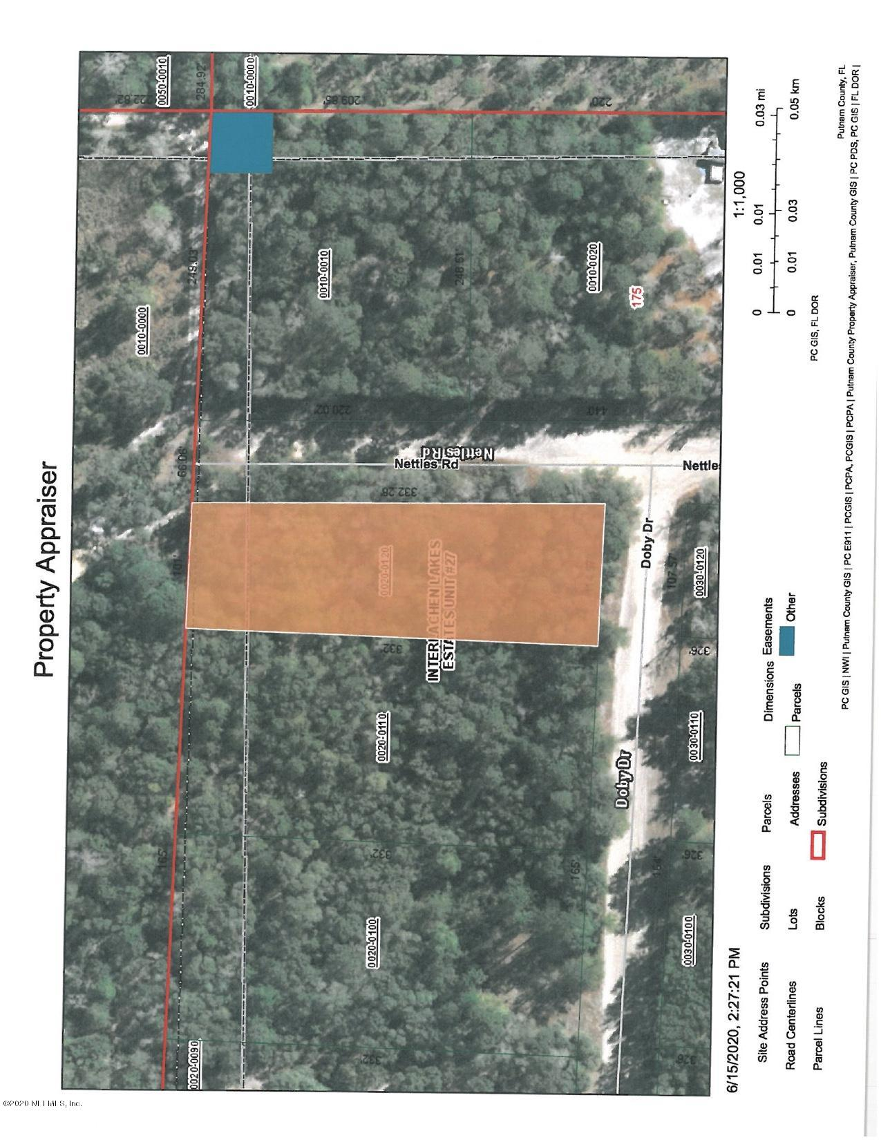 0 NETTLES, FLORAHOME, FLORIDA 32140, ,Vacant land,For sale,NETTLES,1058745