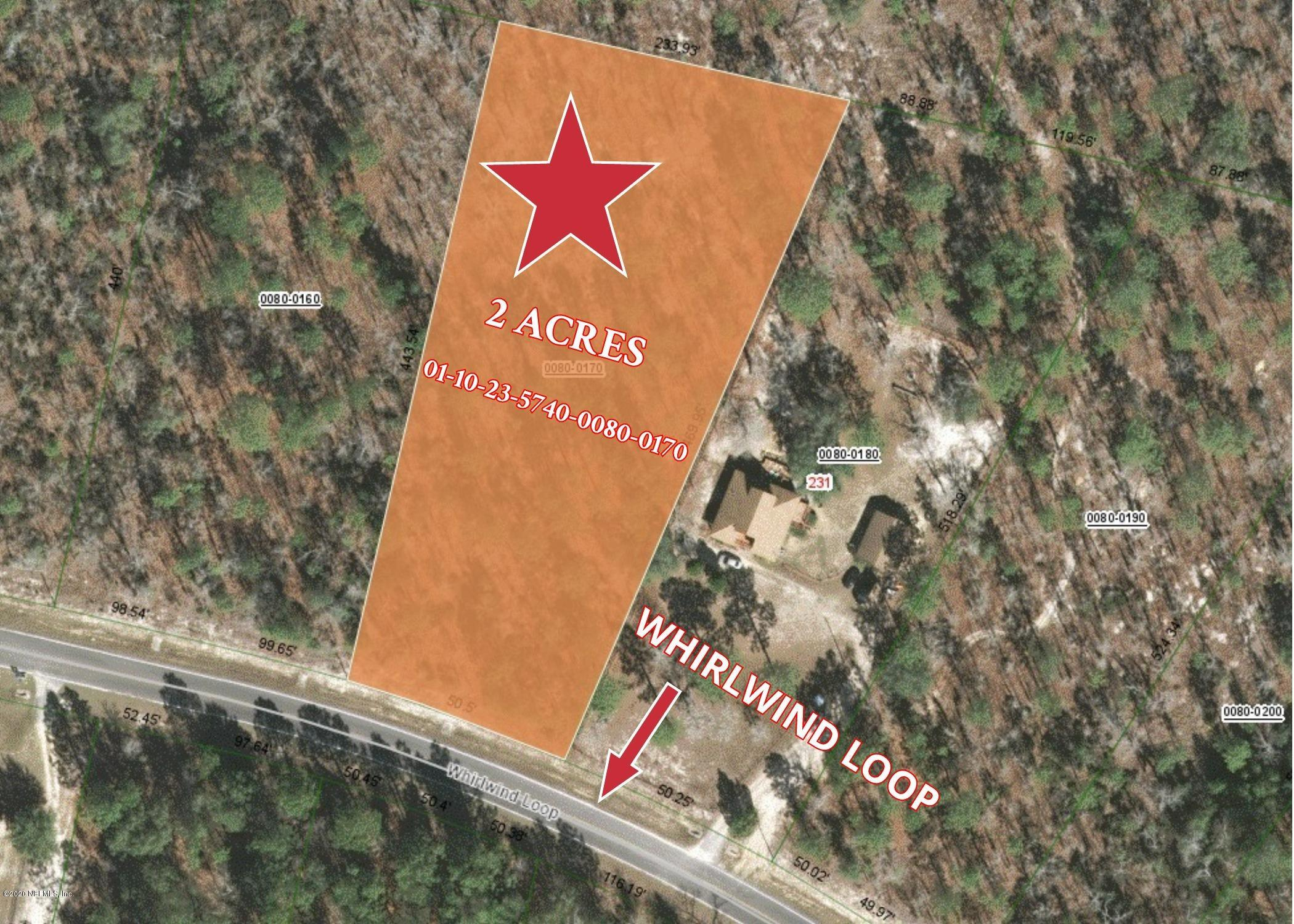 0 WHIRLWIND LOOP, HAWTHORNE, FLORIDA 32640, ,Vacant land,For sale,WHIRLWIND LOOP,1060023