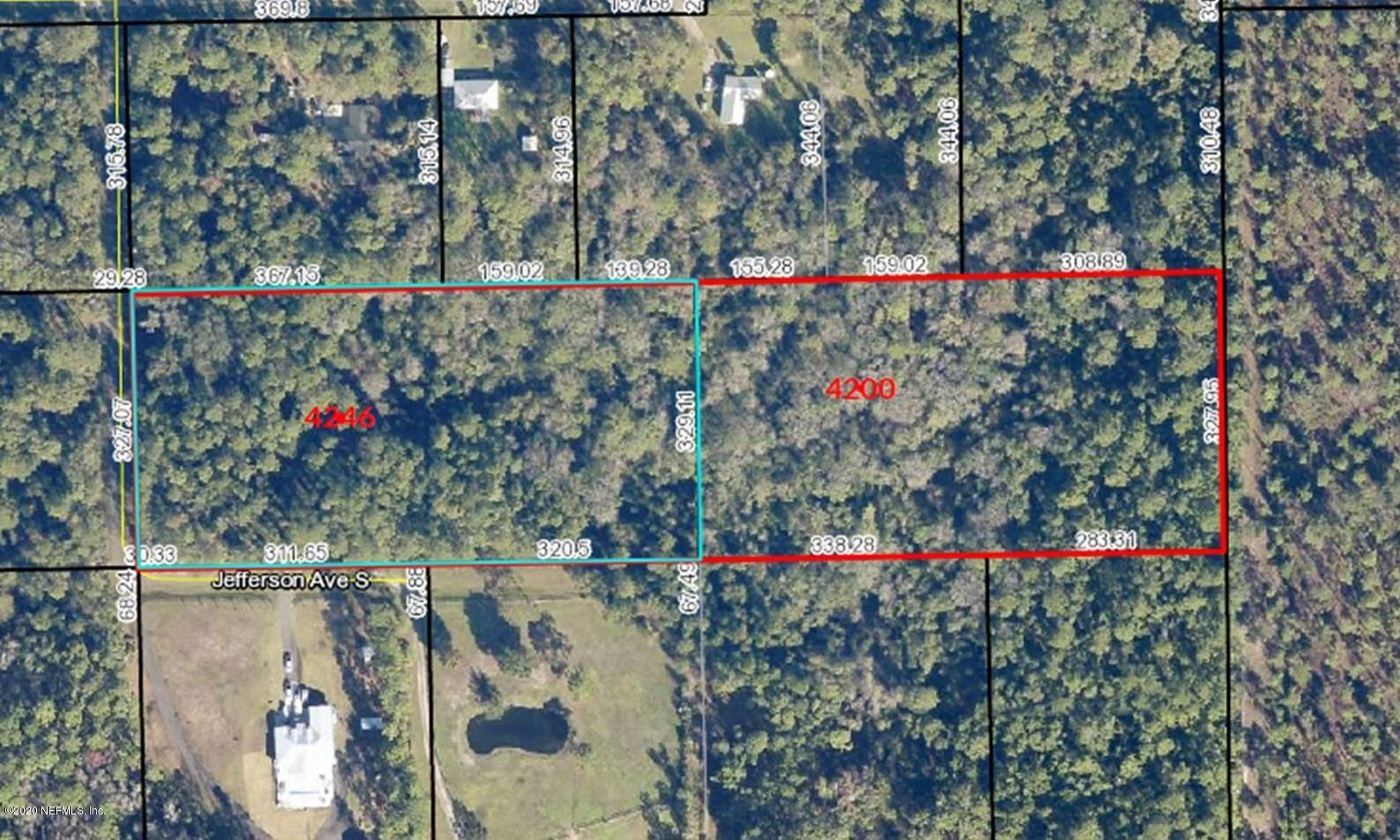 4200/ 4246 JEFFERSON, HASTINGS, FLORIDA 32145, ,Vacant land,For sale,JEFFERSON,1061778