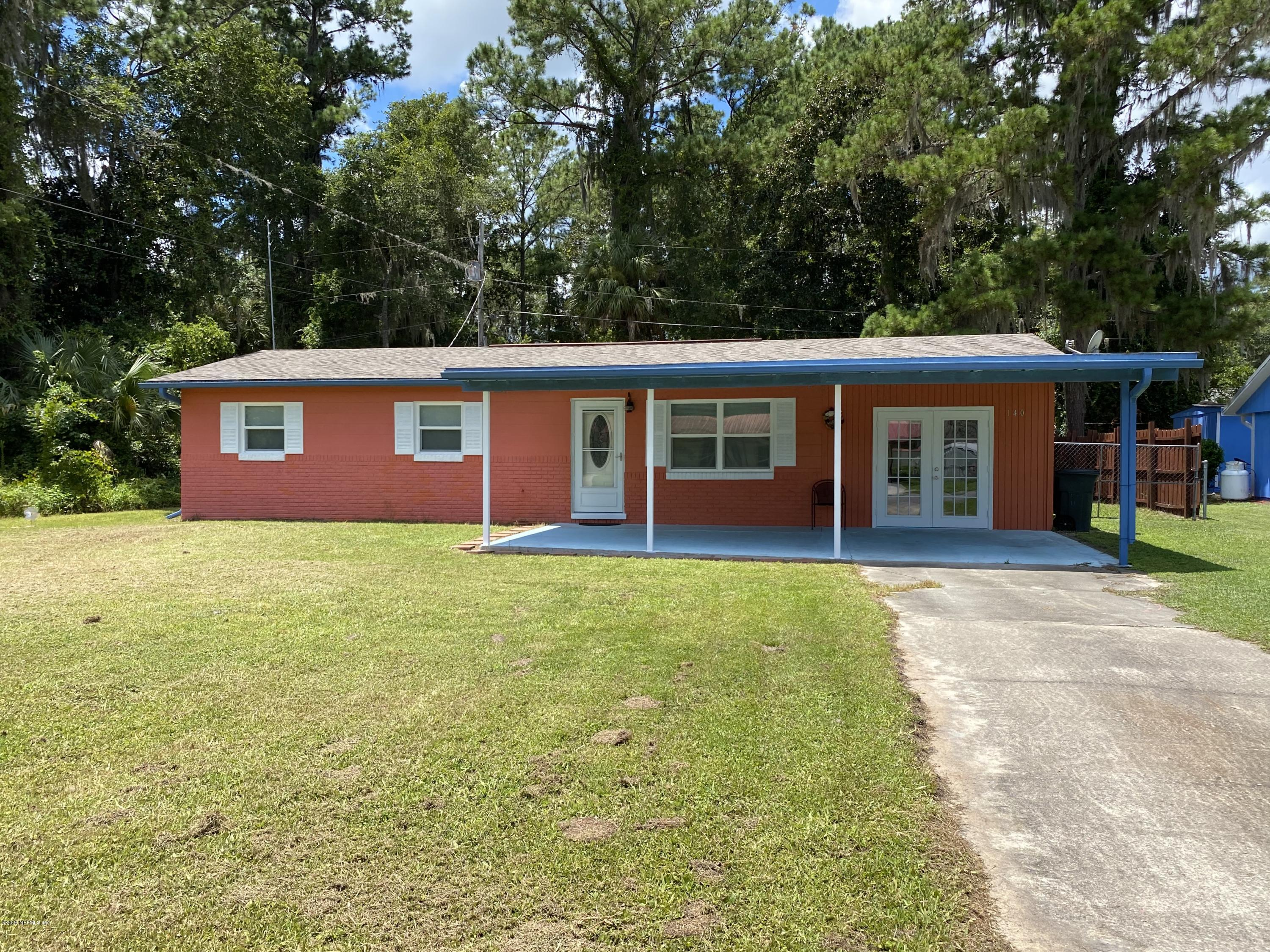 140 PARK, SATSUMA, FLORIDA 32189, 3 Bedrooms Bedrooms, ,1 BathroomBathrooms,Residential,For sale,PARK,1053776
