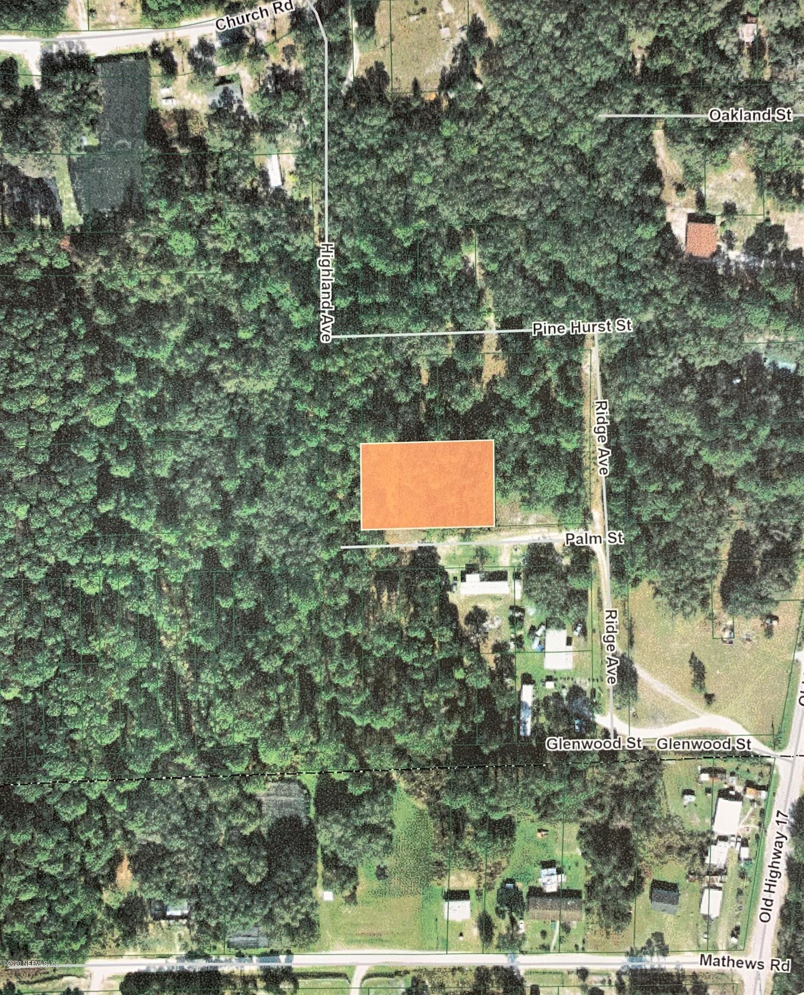 00 PALM, CRESCENT CITY, FLORIDA 32112, ,Vacant land,For sale,PALM,1067198