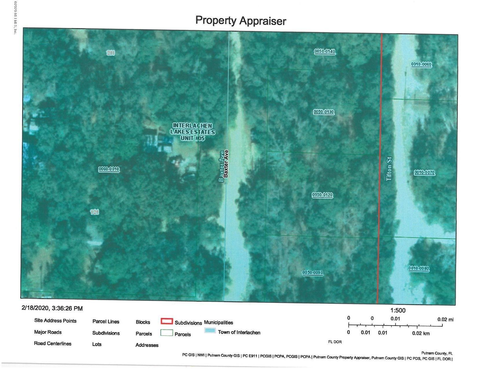 0 BAXTER, INTERLACHEN, FLORIDA 32148, ,Vacant land,For sale,BAXTER,1038990