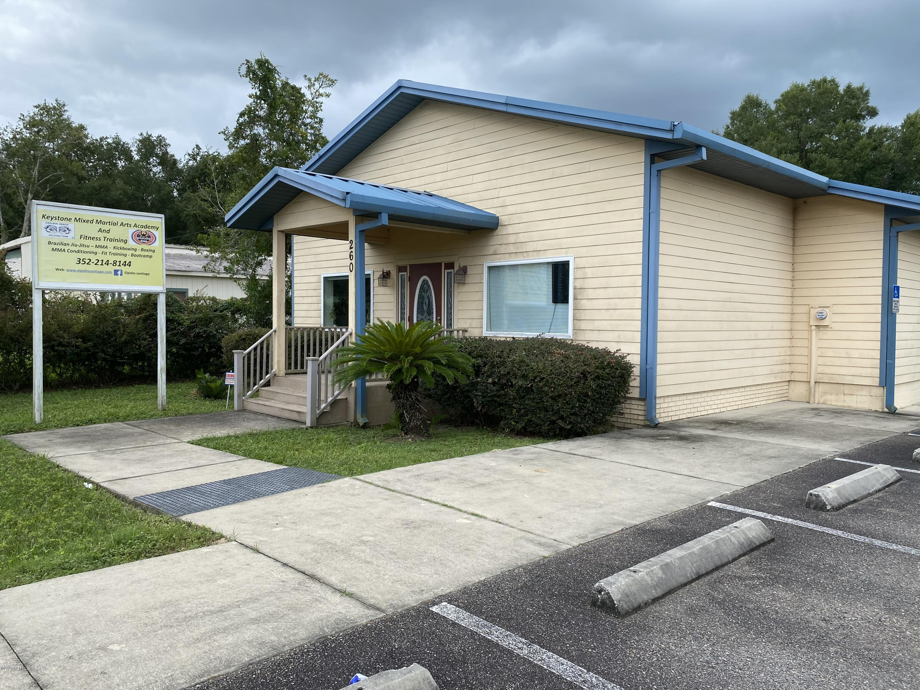 260 COMMERCIAL, KEYSTONE HEIGHTS, FLORIDA 32656, ,Commercial,For sale,COMMERCIAL,1072264