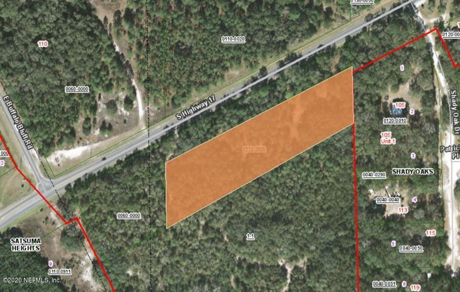 0 HIGHWAY 17, SATSUMA, FLORIDA 32189, ,Vacant land,For sale,HIGHWAY 17,1079911