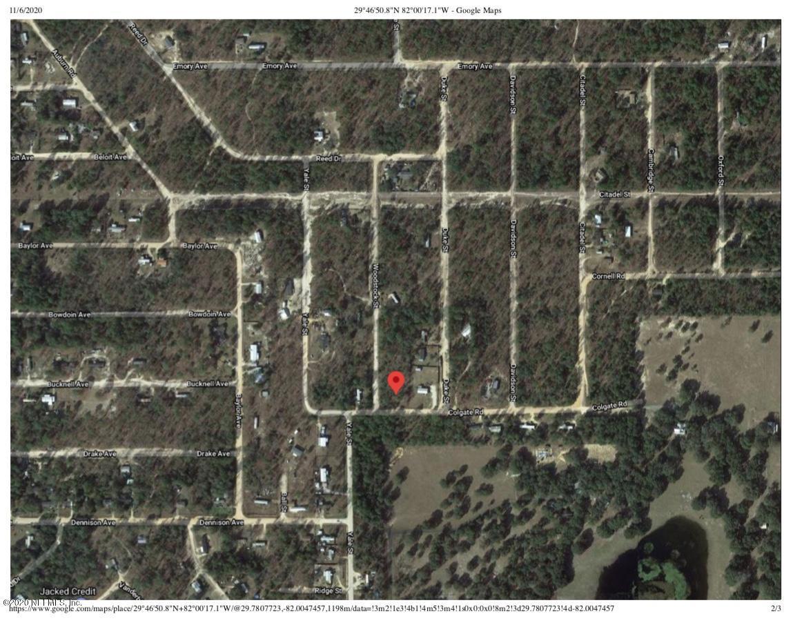 7275 WOODSTOCK, KEYSTONE HEIGHTS, FLORIDA 32656, ,Vacant land,For sale,WOODSTOCK,1081624