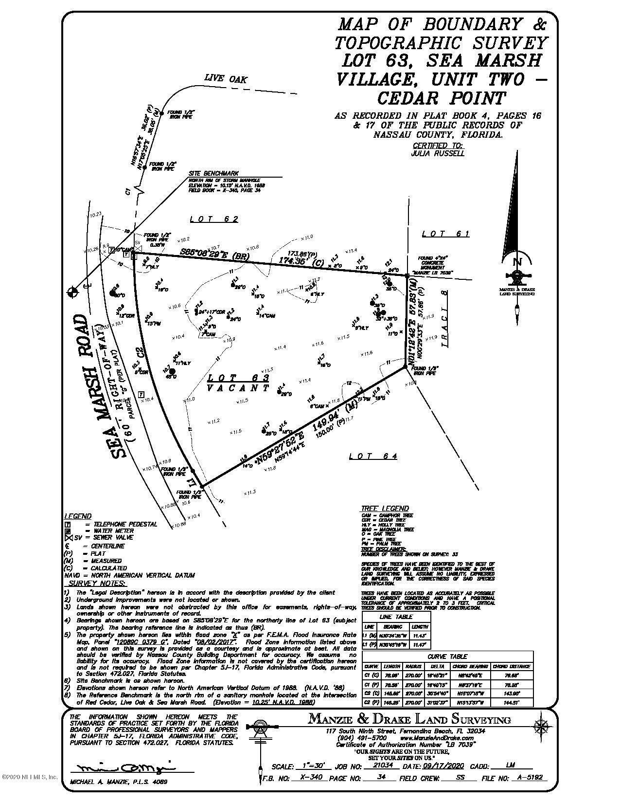 0 SEA MARSH, FERNANDINA BEACH, FLORIDA 32034, ,Vacant land,For sale,SEA MARSH,1082280