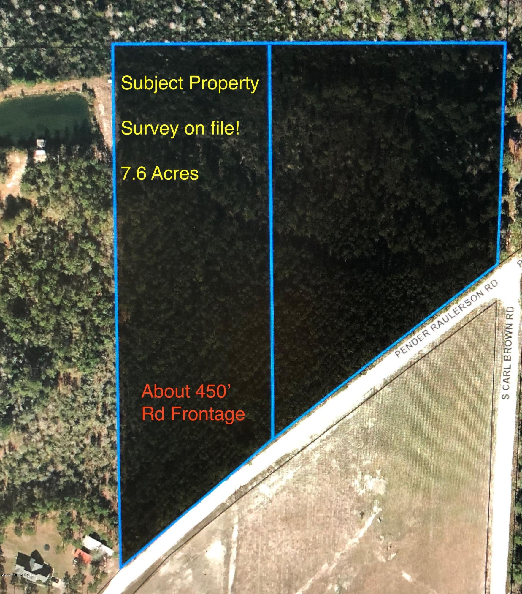 00 PENDER RAULERSON, SANDERSON, FLORIDA 32087, ,Vacant land,For sale,PENDER RAULERSON,1075692