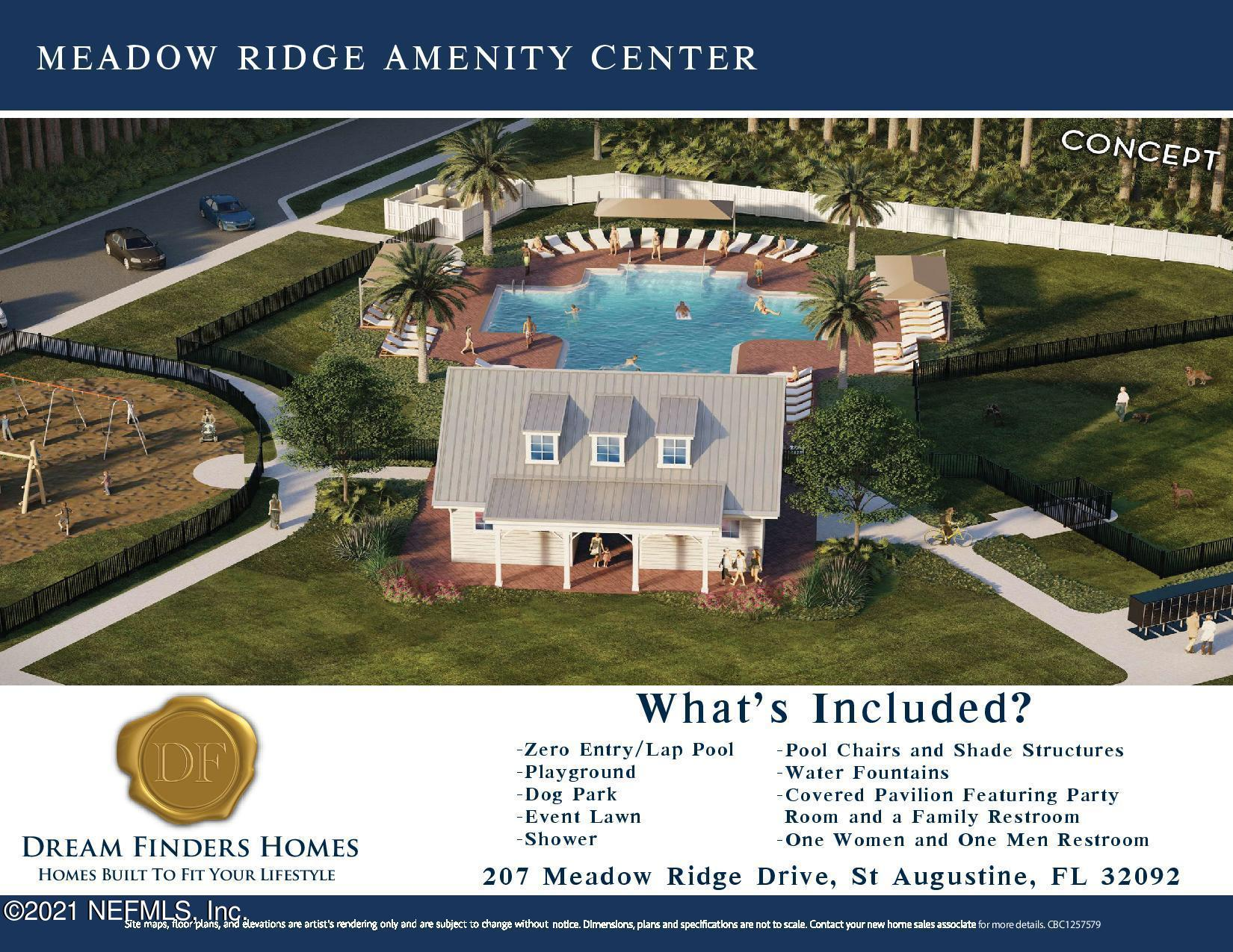 557 MEADOW RIDGE, ST AUGUSTINE, FLORIDA 32092, 4 Bedrooms Bedrooms, ,3 BathroomsBathrooms,Residential,For sale,MEADOW RIDGE,1086638