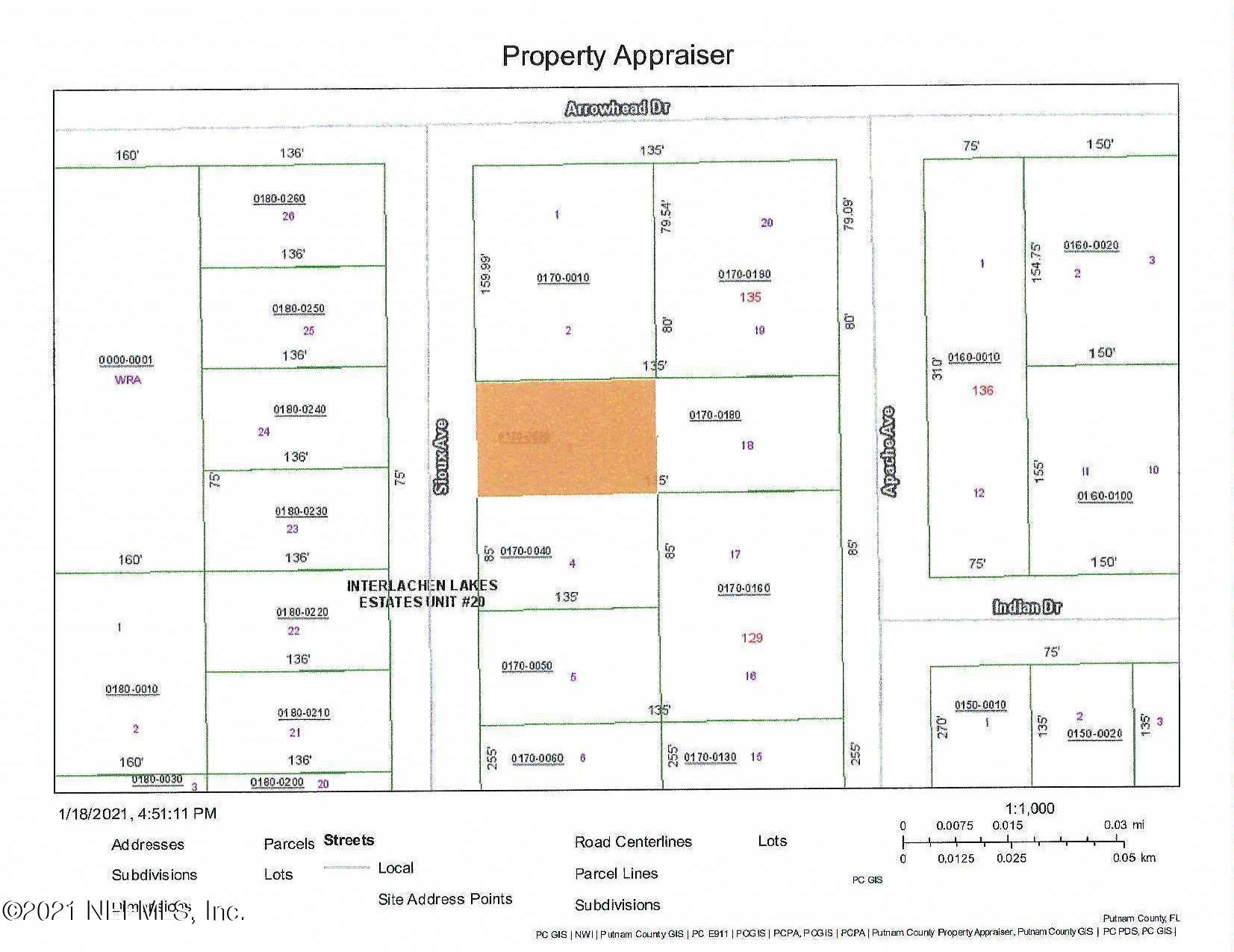 0030 SIOUX, INTERLACHEN, FLORIDA 32148, ,Vacant land,For sale,SIOUX,1091212
