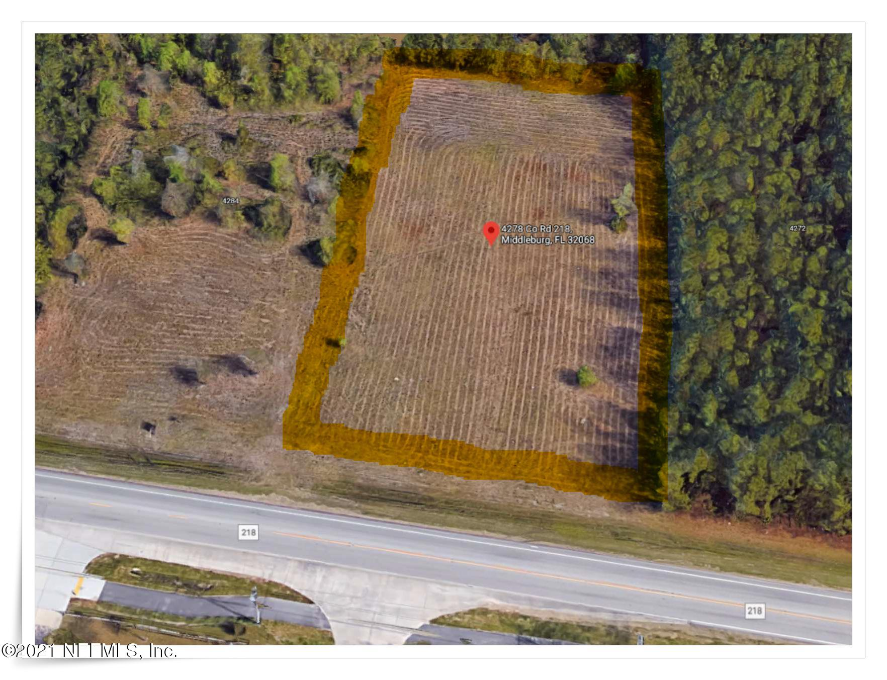 4278 COUNTY ROAD 218, MIDDLEBURG, FLORIDA 32068, ,Commercial,For sale,COUNTY ROAD 218,1096437