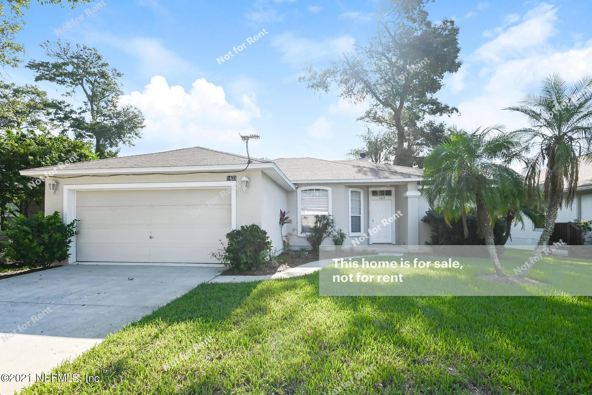 1433 SOARING FLIGHT, JACKSONVILLE, FLORIDA 32225, 3 Bedrooms Bedrooms, ,2 BathroomsBathrooms,Residential,For sale,SOARING FLIGHT,1123814