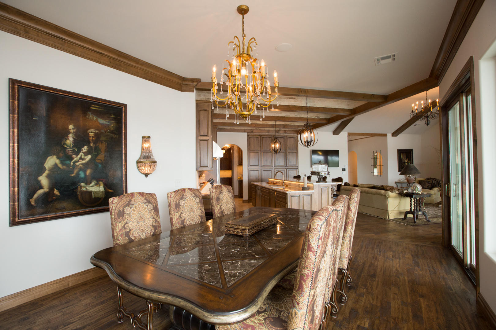 Dining, Kitchen, And Living