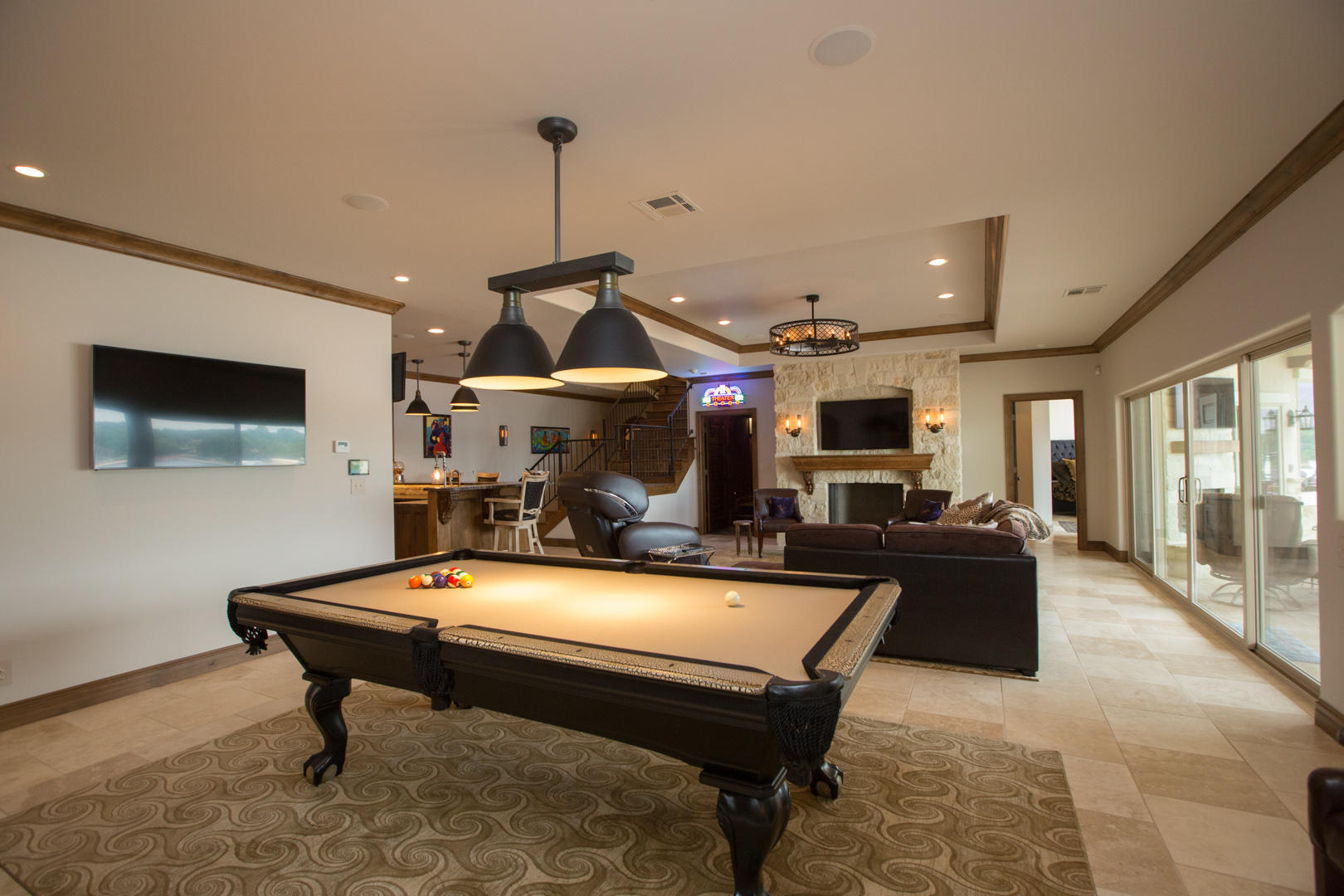 Game Room W Fp, Bar, And Wine Room