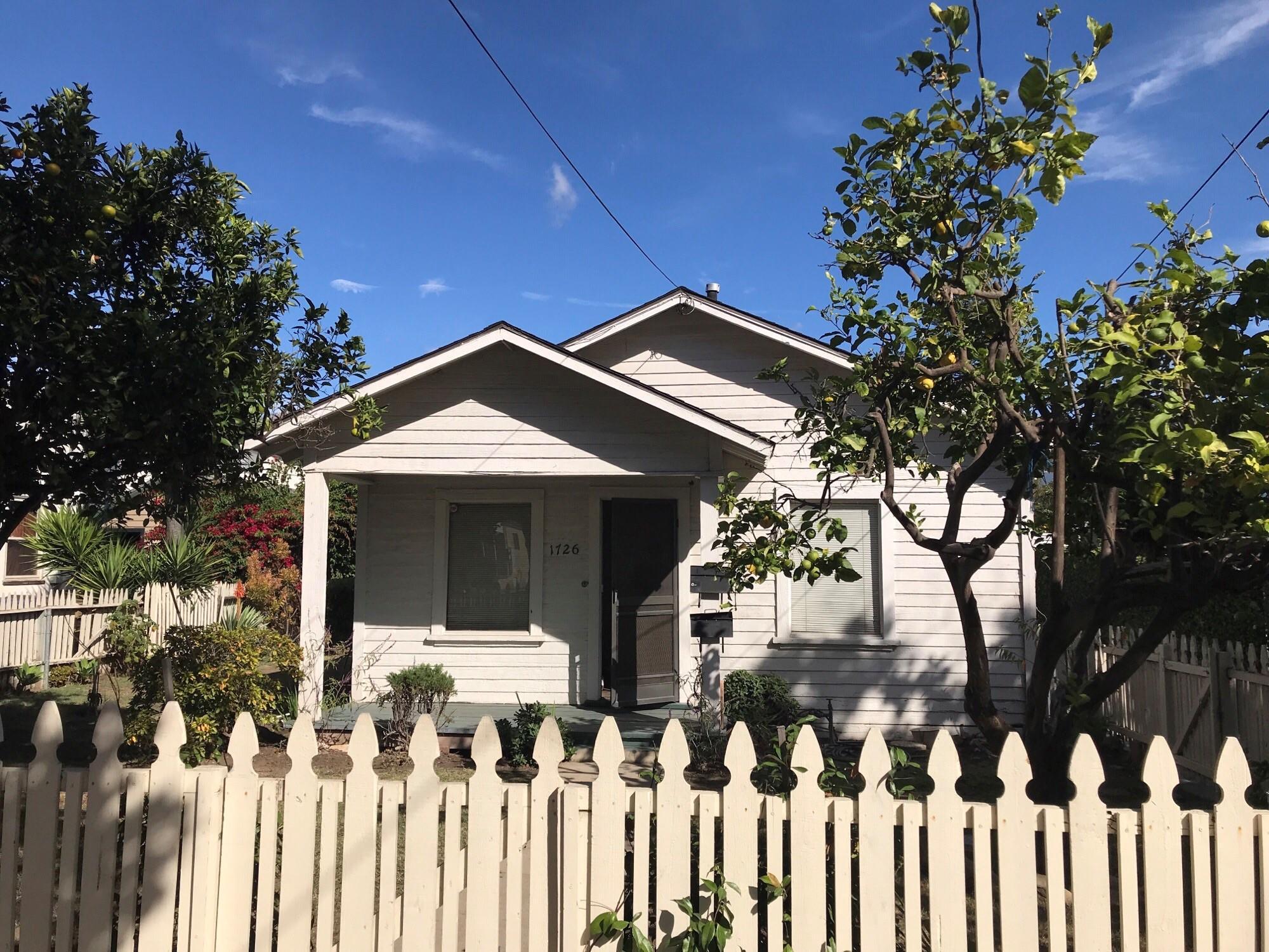 Property photo for 1726 San Andres St Santa Barbara, California 93101 - 17-3805