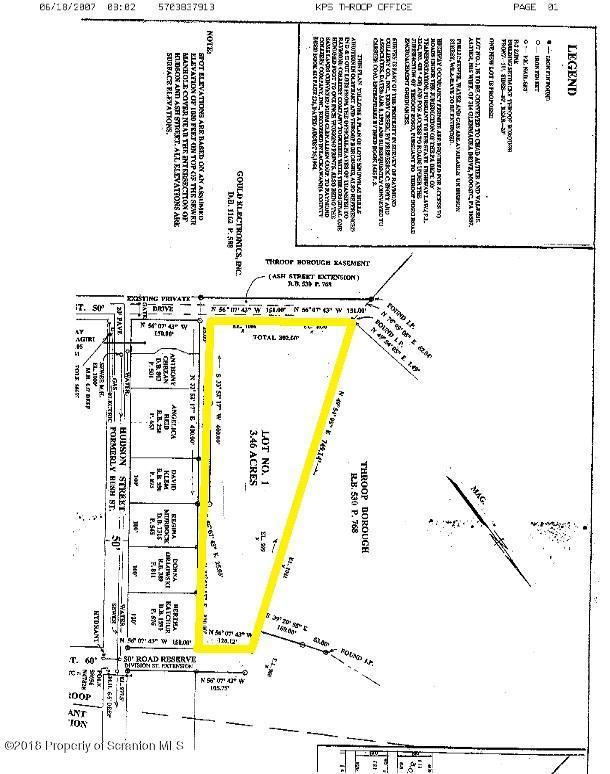 William Pierce Wt, Throop, Pennsylvania 18512, ,Land,For Sale,William Pierce Wt,18-4224