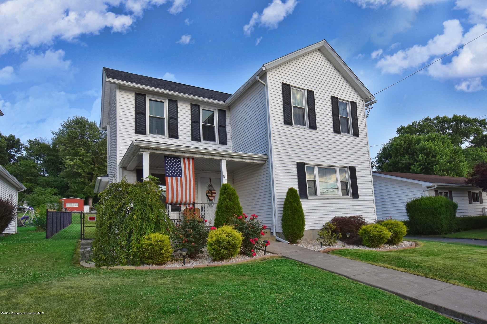 51 Washington Ter, Pittston, Pennsylvania 18640, 3 Bedrooms Bedrooms, 6 Rooms Rooms,2 BathroomsBathrooms,Single Family,For Sale,Washington Ter,19-2992
