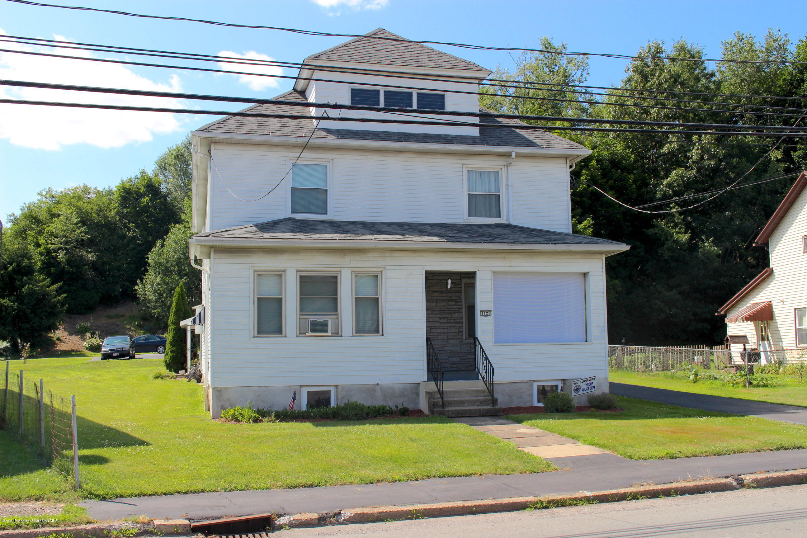 1126 Valley Ave, Throop, Pennsylvania 18512, 1 Bedroom Bedrooms, 5 Rooms Rooms,1 BathroomBathrooms,Rental,For Lease,Valley,19-3350