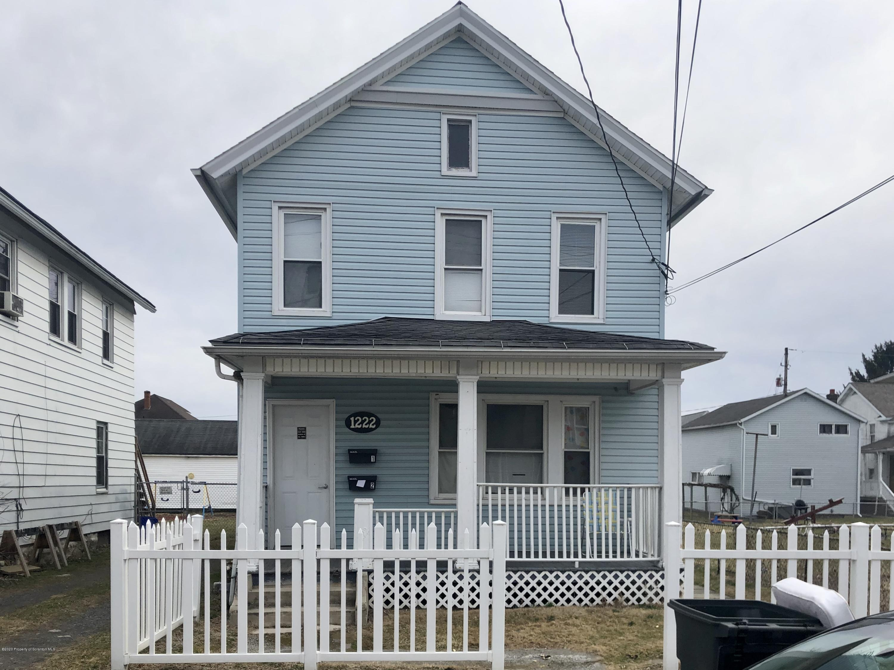1222 Diamond Ave, Scranton, Pennsylvania 18508, ,Multi-Family,For Sale,Diamond,20-1757