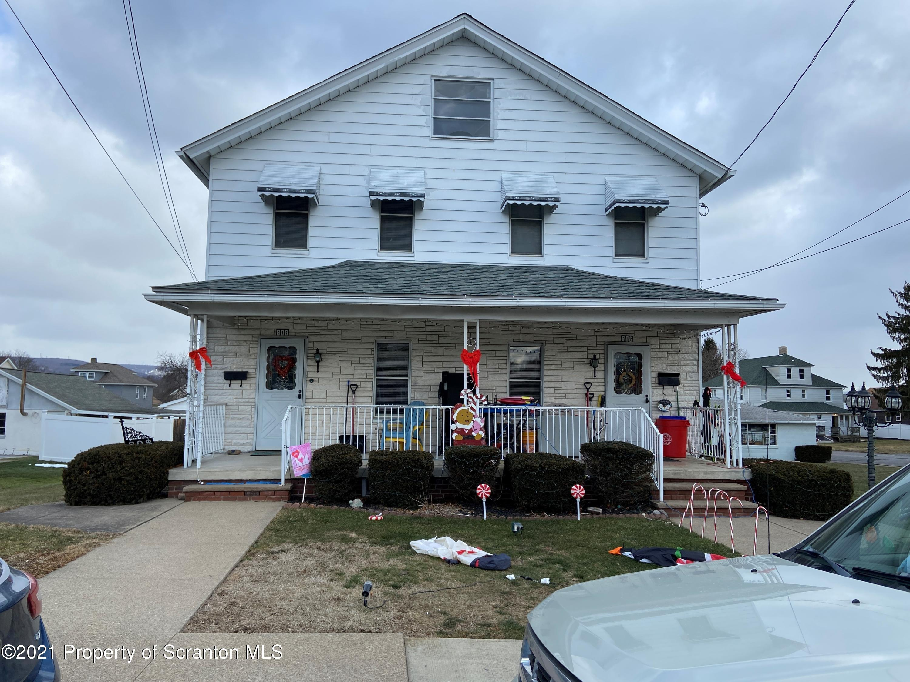 802 Taylor (804-806-808) St., Taylor, Pennsylvania 18517, ,Multi-Family,For Sale,Taylor (804-806-808),21-235