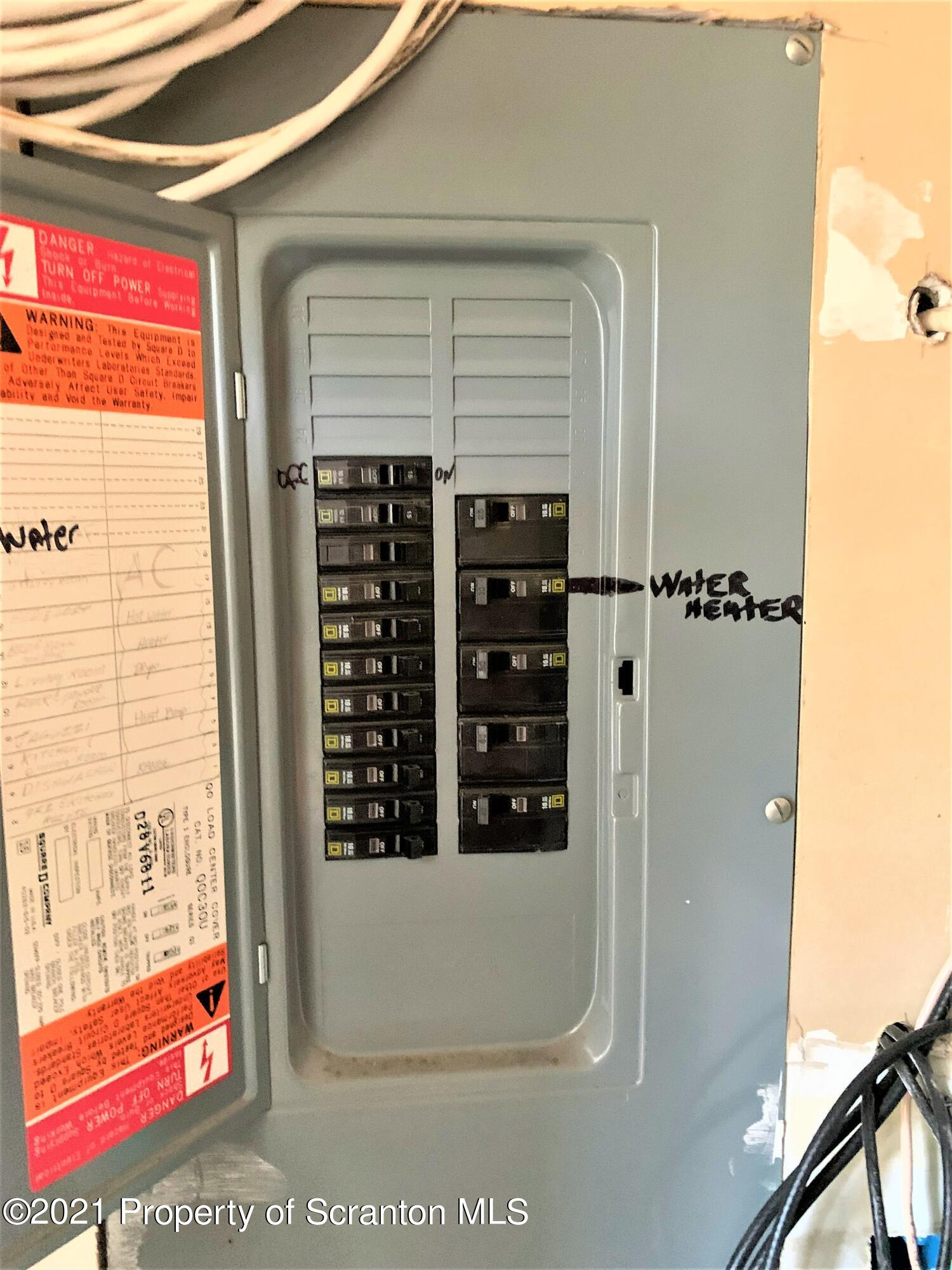 ELECTRICAL PANEL IN SUPPORT AREA ADJACEN