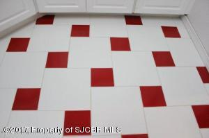 Laundry room tile floor