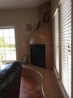 Kiva Fireplace with Bench Seating