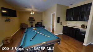 Game Room with Wet Bar and Half Bath