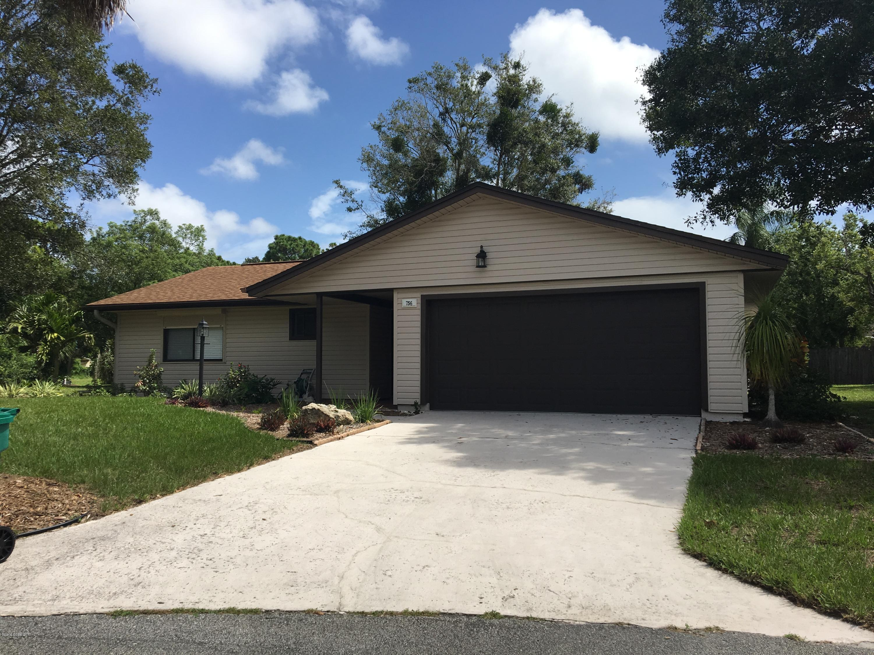 Single Family Home for Rent at 756 John Carroll 756 John Carroll West Melbourne, Florida 32904 United States