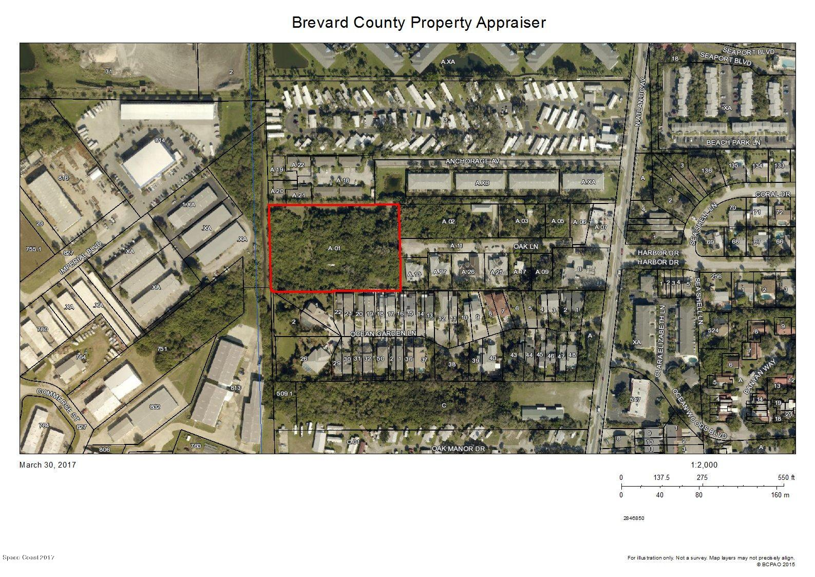 Land for Sale at 143 Oak 143 Oak Cape Canaveral, Florida 32920 United States