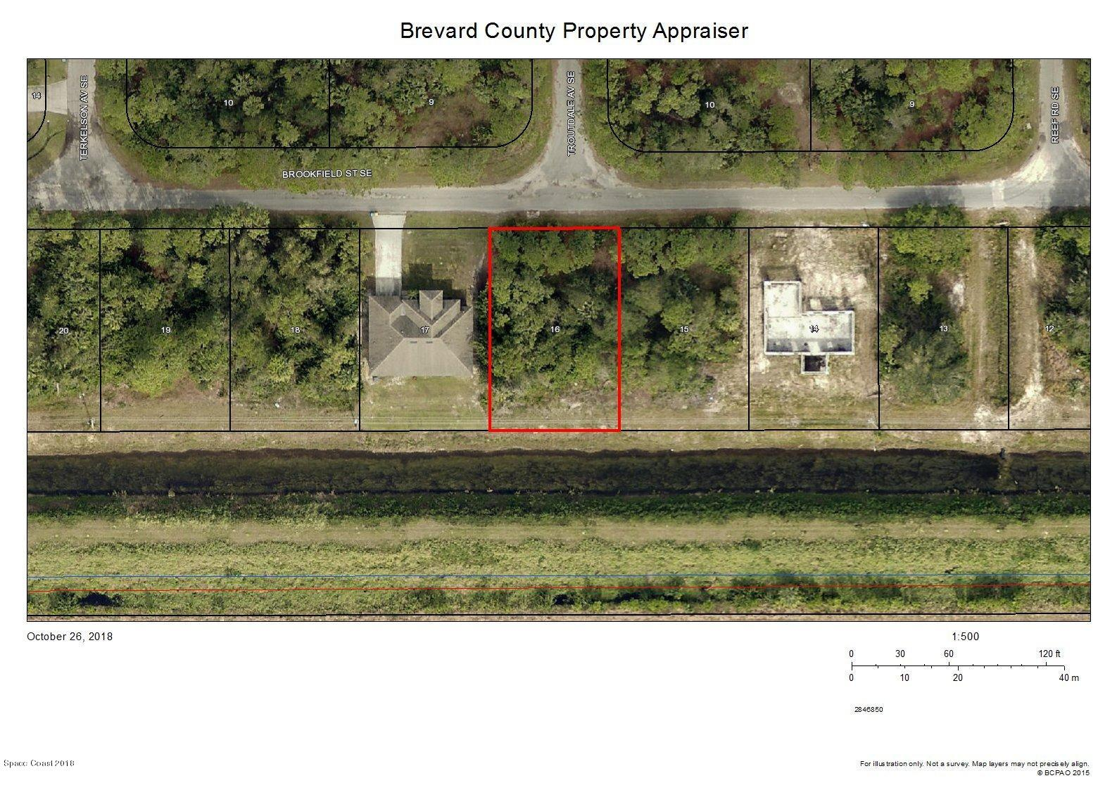 Land for Sale at 958 Brookfield 958 Brookfield Palm Bay, Florida 32909 United States