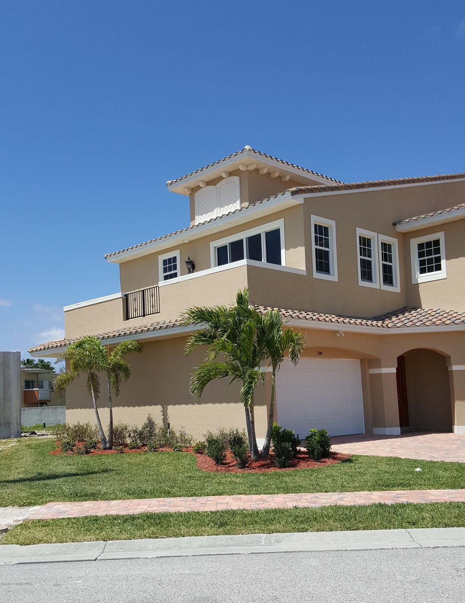 Einfamilienhaus für Mieten beim 108 Mediterranean 108 Mediterranean Indian Harbour Beach, Florida 32937 Vereinigte Staaten