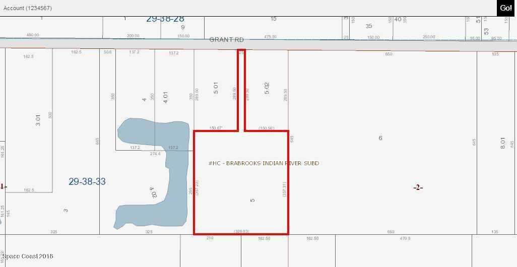Land for Sale at Grant Road Grant Road Grant, Florida 32949 United States